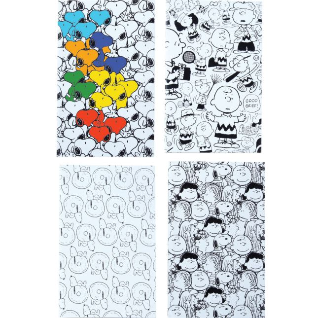 Peanuts Color-Your-Own Mini Notebooks