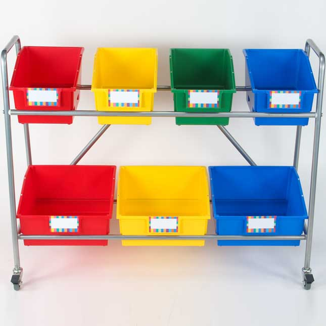 Mobile Toy Storage System - Primary Colors