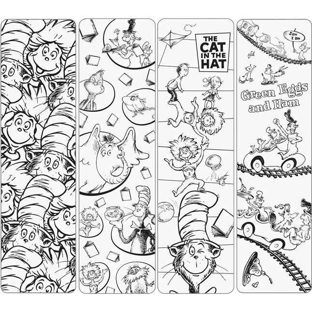 Dr. Seuss Color-Your-Own Bookmarks