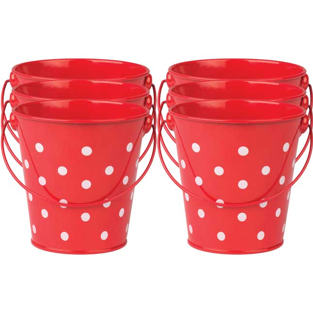 Polka Dot Buckets - Set Of 6