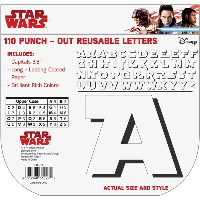 Star Wars Storm Troopers Deco Letters - 96 letters