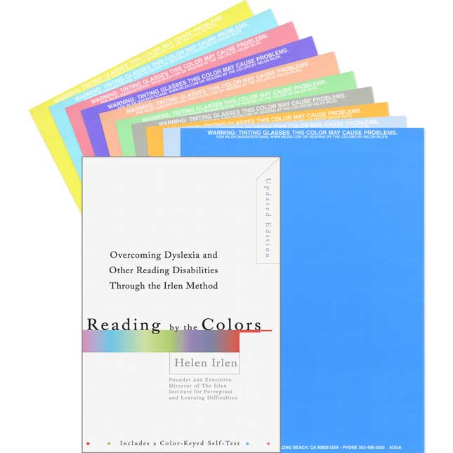 Reading By The Colors Book And Set Of 10 Colored Overlays