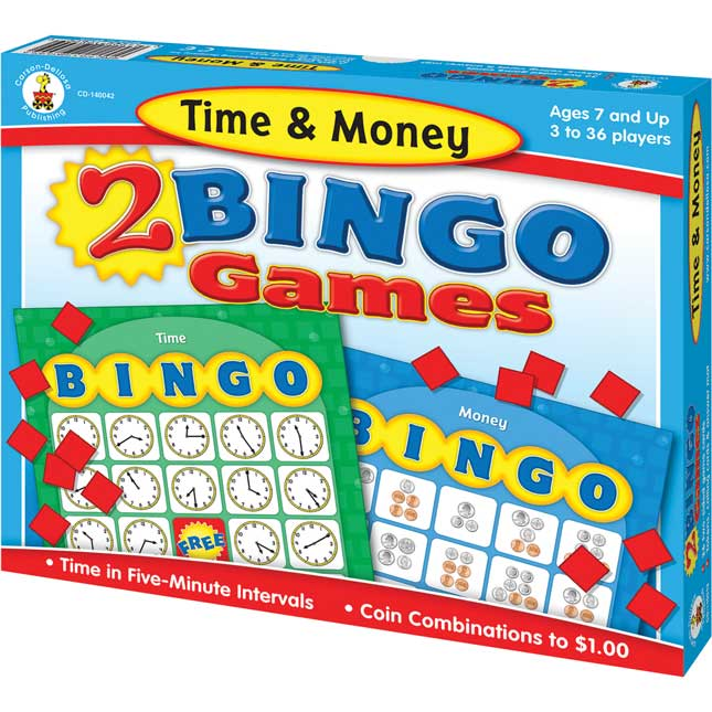 Time and Money Bingo