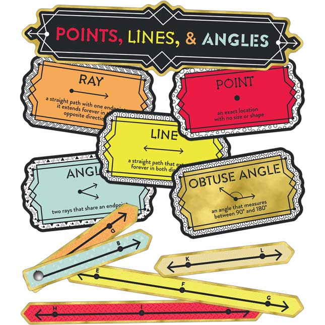 Points, Lines, And Angles Mini Bulletin Board Set
