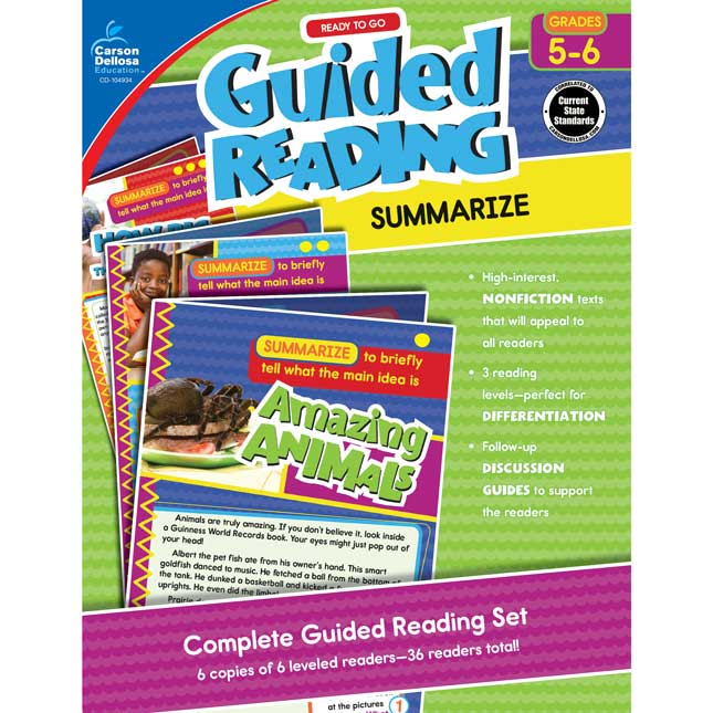 Ready To Go Guided Reading: Summarize Resource Book, Grades 5-6