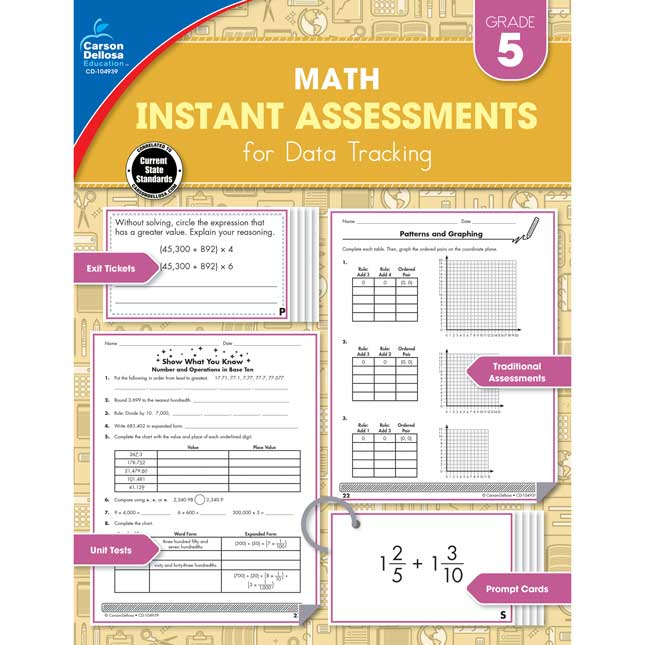 Math Instant Assessments For Data Tracking Book