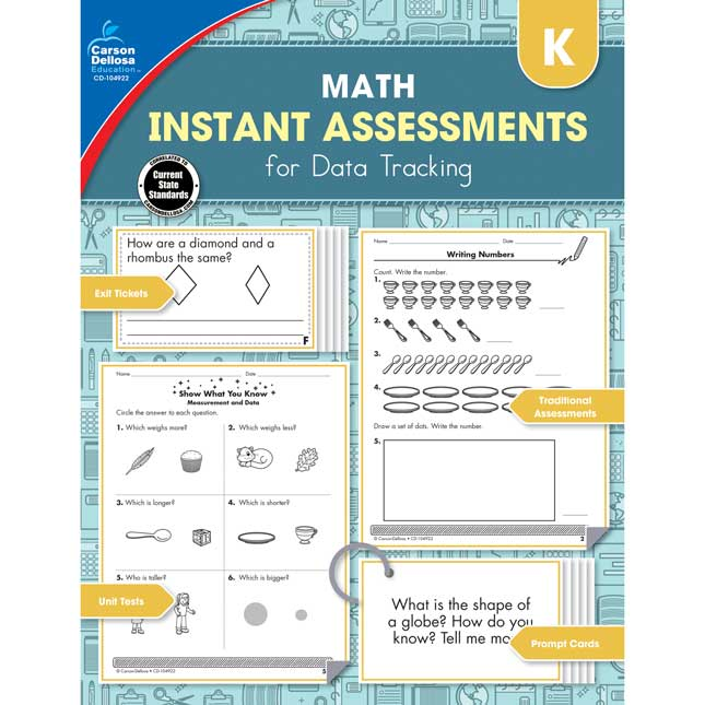 Math Instant Assessments For Data Tracking Book - 1 book