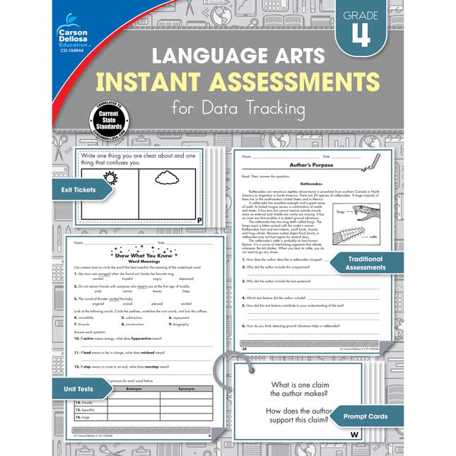 Language Arts Instant Assessments For Data Tracking Book