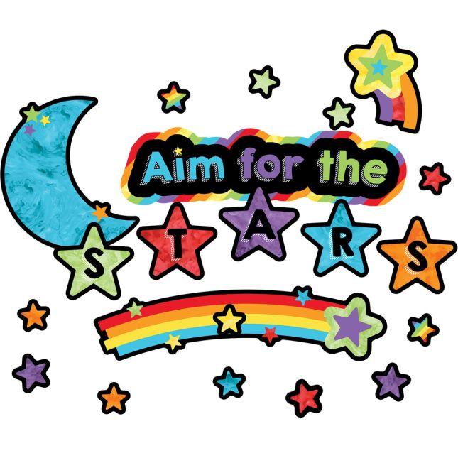 Celebrate Learning Aim For The Stars Mini Bulletin Board Set