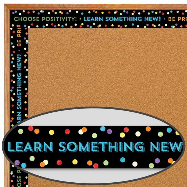 Celebrate Learning Think Positive Straight Borders - 1 border trim