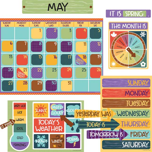 Nature Explorers Calendar Bulletin Board Set