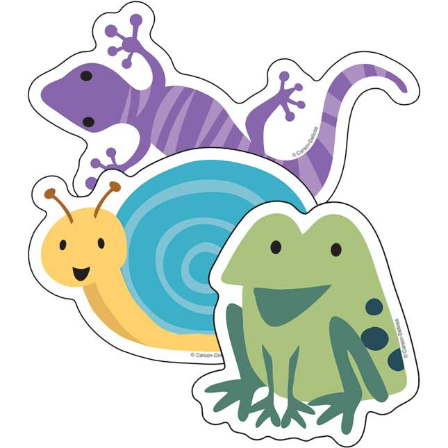 Nature Explorers Frogs, Lizards And Snails Cutouts