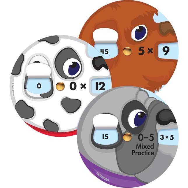 Math Wheels: Multiplication Facts Curriculum Cutouts