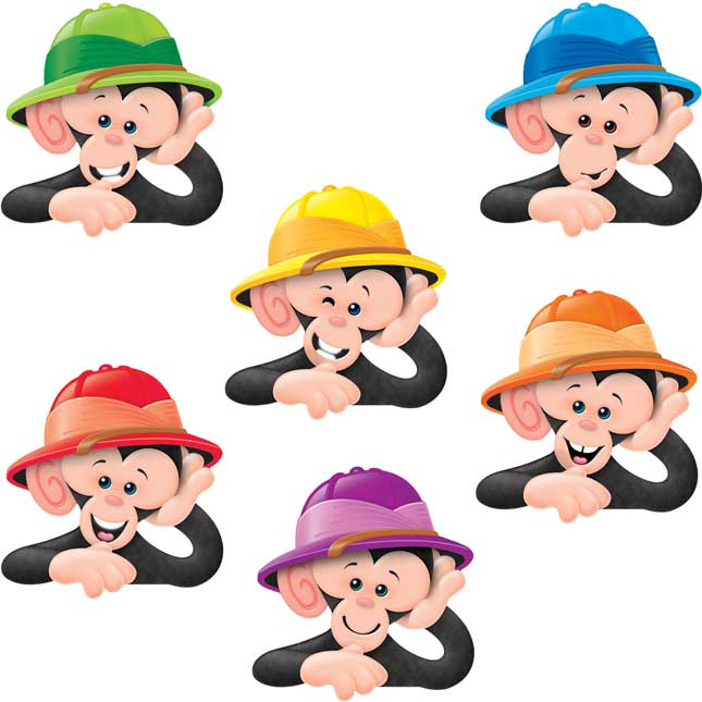 Monkey Mischief® Monkeys With Hats Accents