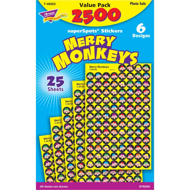 Monkey Mischief® Merry Monkeys Stickers Value Pack
