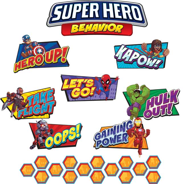 Marvel™ Superhero Adventure Behavior Mini Bulletin Board Set