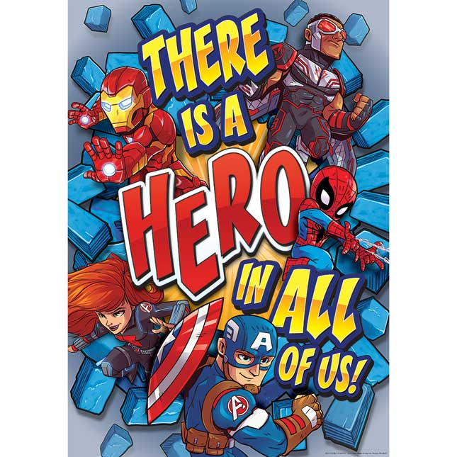 "Marvel™ Superhero Adventure Hero In All Of Us 13"" X 19"" Poster"