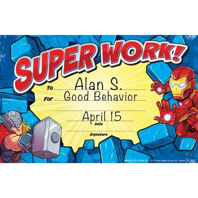 Marvel™ Superhero Adventure Recognition Awards