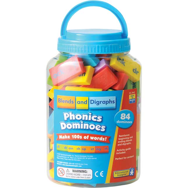 Phonics Dominoes - Blends And Digraphs
