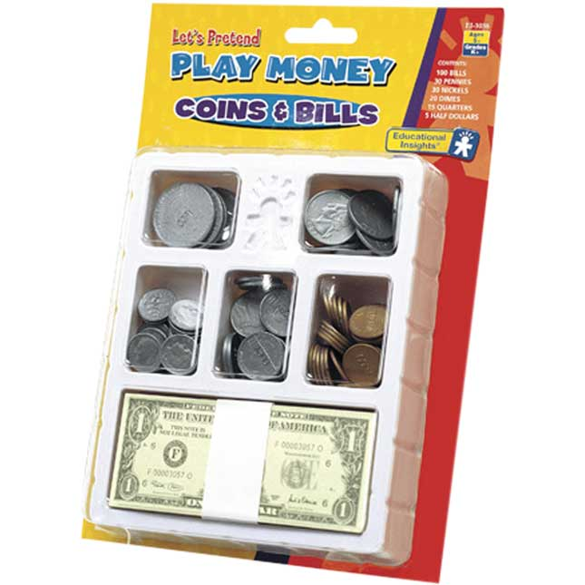 Play Money Coins and Bills
