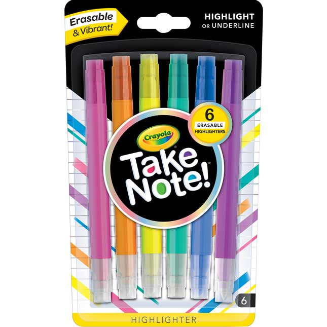 Take Note! Erasable Highlighters