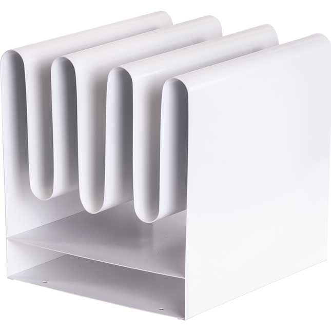 Wave™ Desktop File Organizer - White