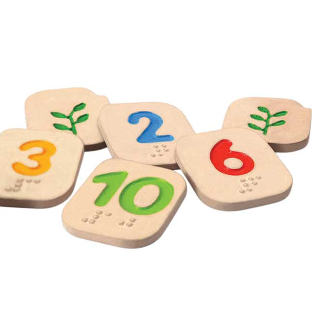 Braille Number Tiles