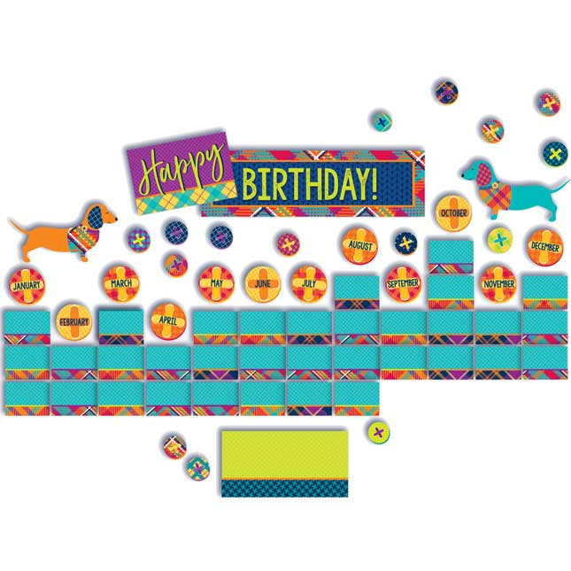 Plaid Attitude Birthday Mini Bulletin Board Set