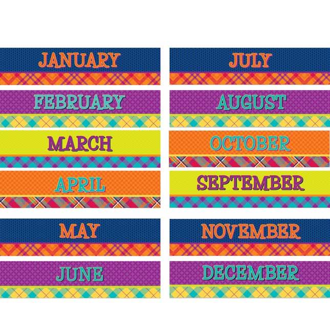 Plaid Attitude Calendar Bulletin Board Set