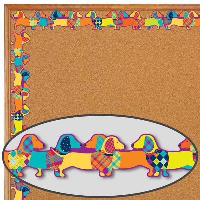 Plaid Attitude Dogs Deco Trim® Extra Wide Diecut
