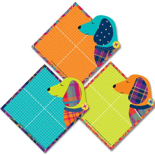 Plaid Attitude Dogs Paper Cutouts