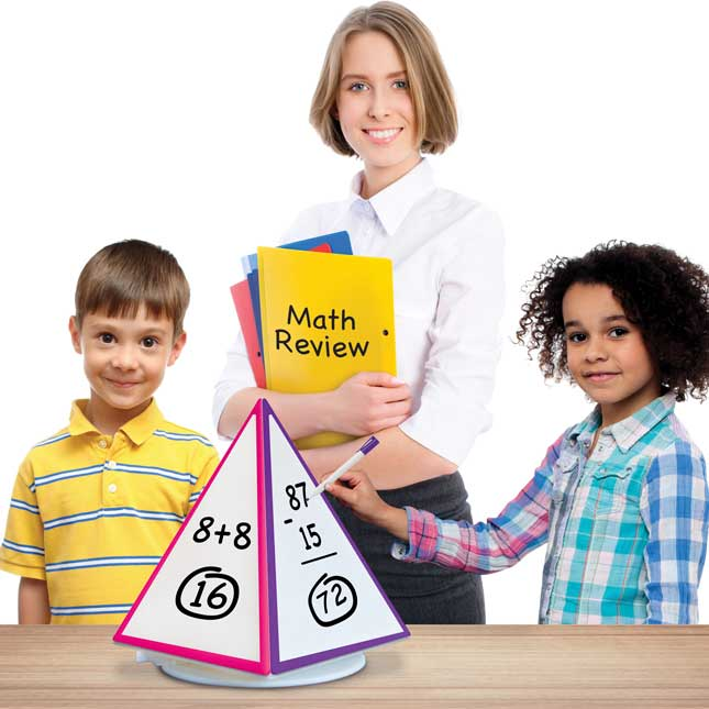 4-Sided Dry Erase Pyramid