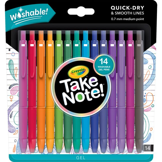 Take Note! 14-Count Washable Gel Pens