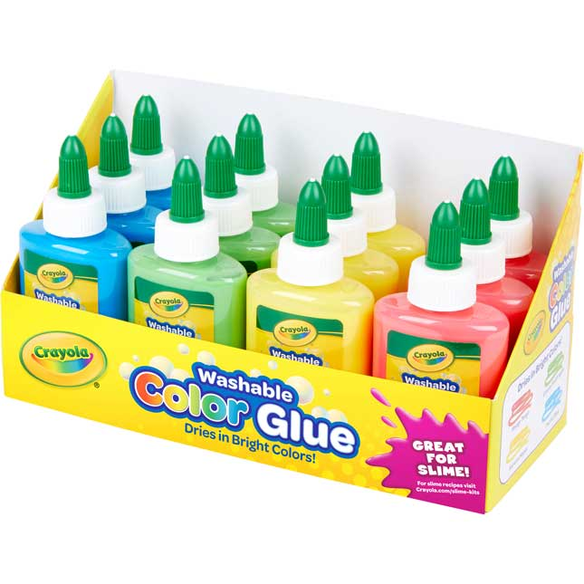 3 Oz. Color Glue In 12-Count Tray