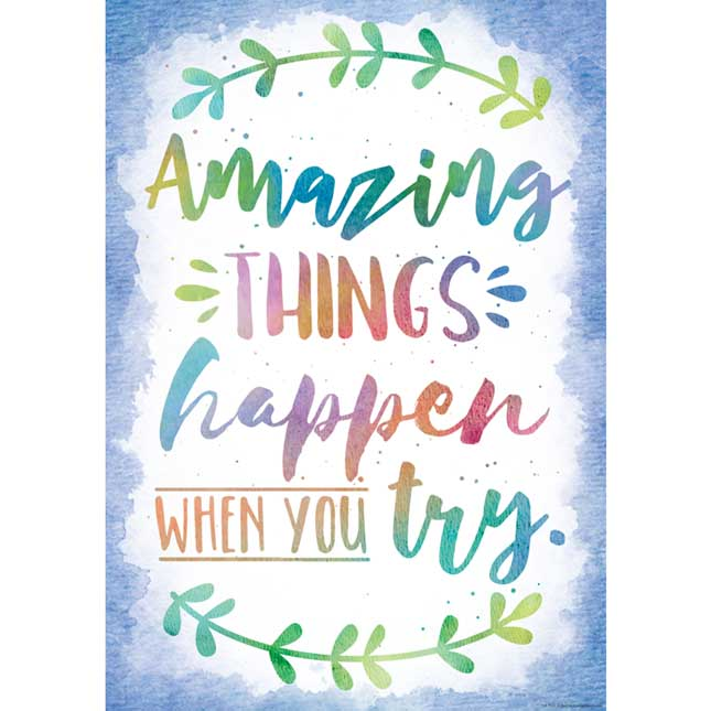 Watercolor Inspirational 2-Pack Poster Set