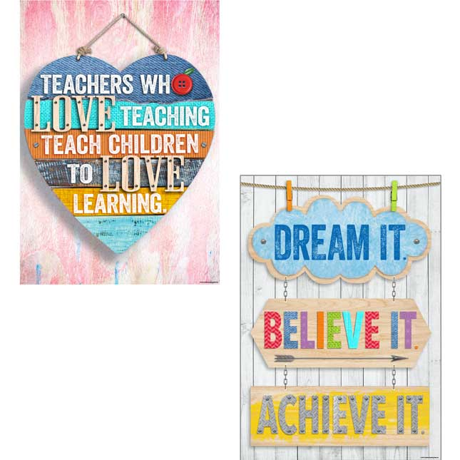 Upcycle Inspire-U 4-Pack Poster Set