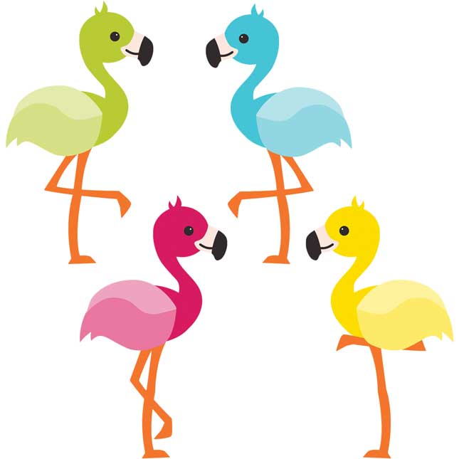 School Pop Flamingos Classroom Decor Collection
