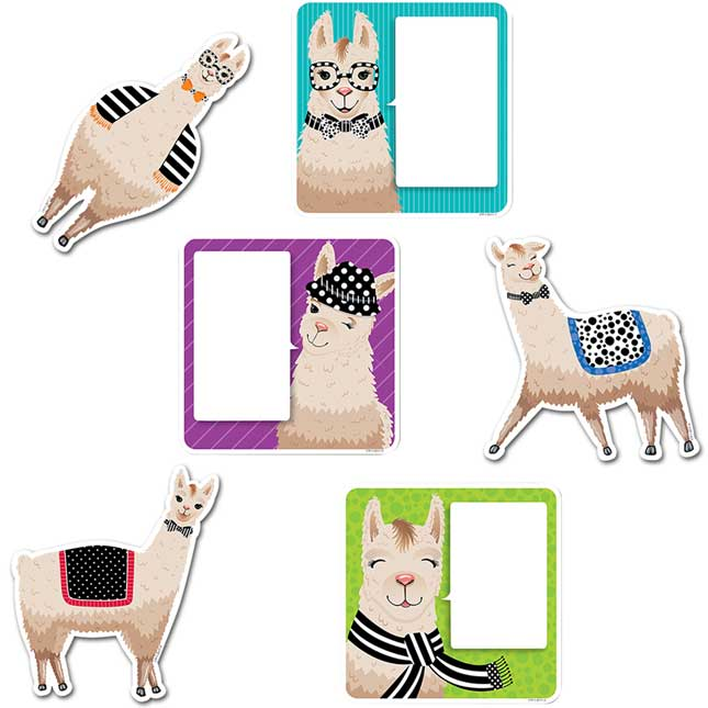 Bold and Bright Llamas Bulletin Board Collection