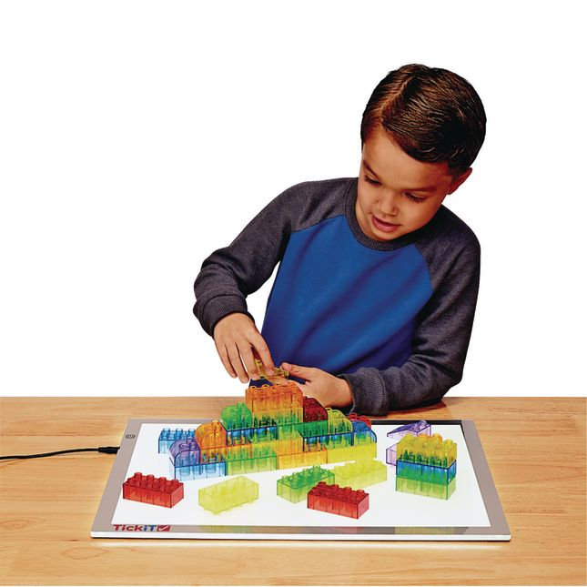 Excellerations® Translucent Building Bricks - 206 Pieces