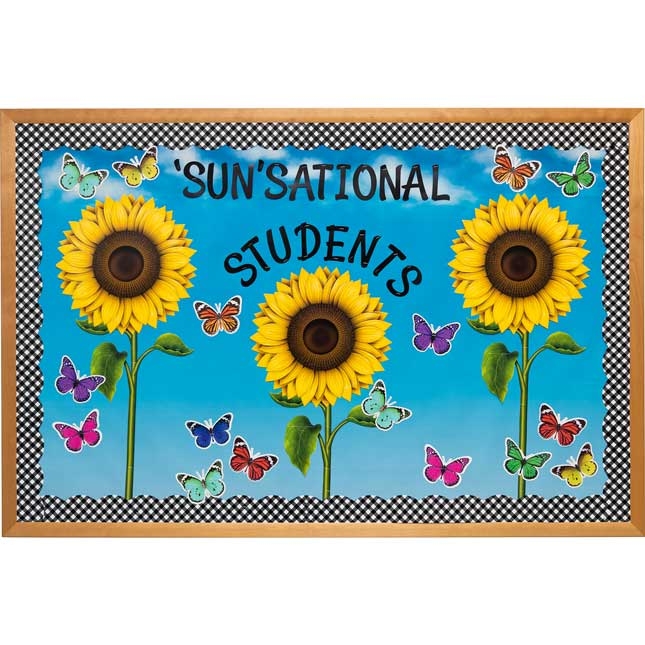 Sunflower And Gingham Bulletin Board Decor Set