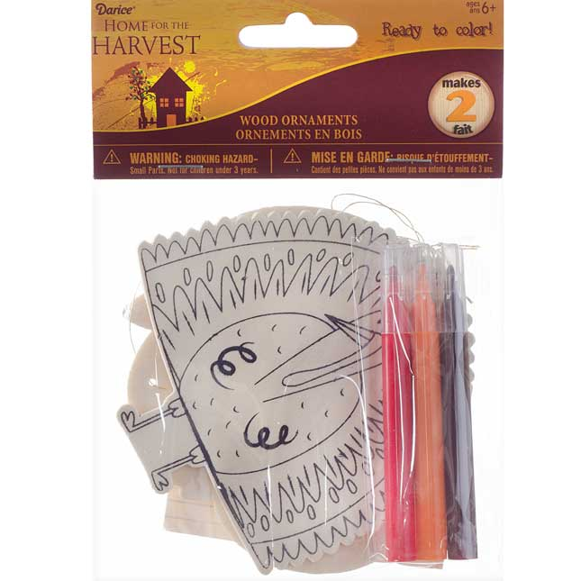 Fall Wood Ornament Craft Kit - Set Of 12
