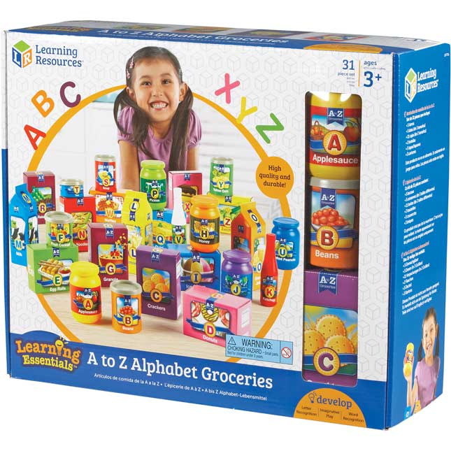 A To Z Alphabet Groceries