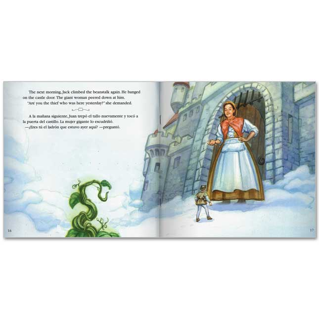 Jack And The Beanstalk/Juan y los frijoles mA¡gicos - Bilingual English-Spanish Storybook - Paperback - Grades Pre-K-3 - bilingual paperback storybook
