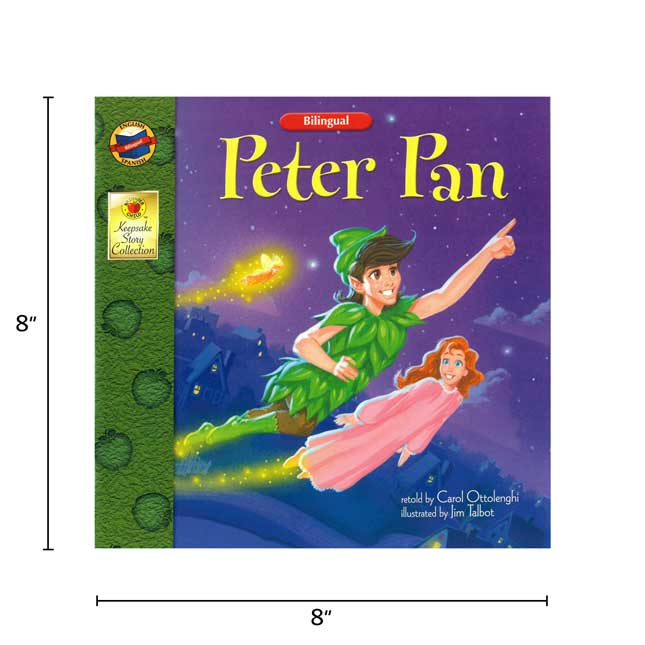 Peter Pan - Bilingual English-Spanish Storybook - Paperback - Grades Pre-K-3