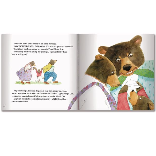 Goldilocks and the Three Bears/Ricitos de oro y los tres osos - Bilingual English-Spanish Storybook - Paperback - Grades Pre-K-3