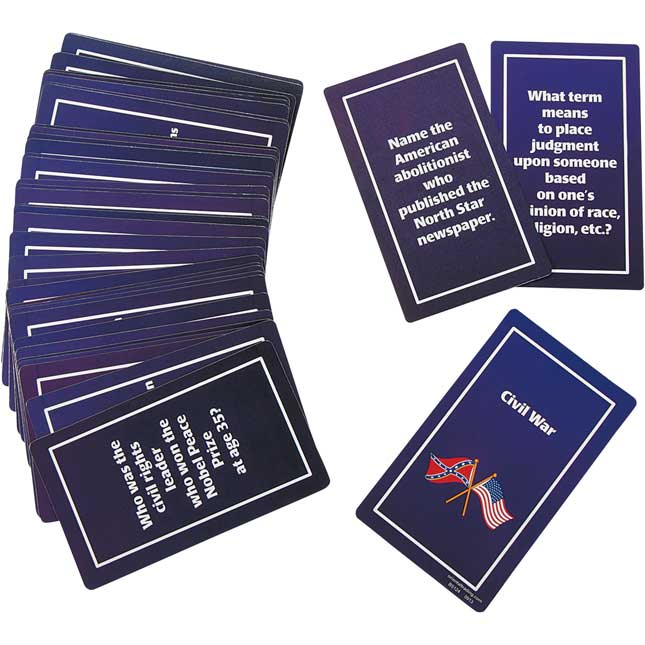 Cardboard Black History Flash Cards - 39 cards