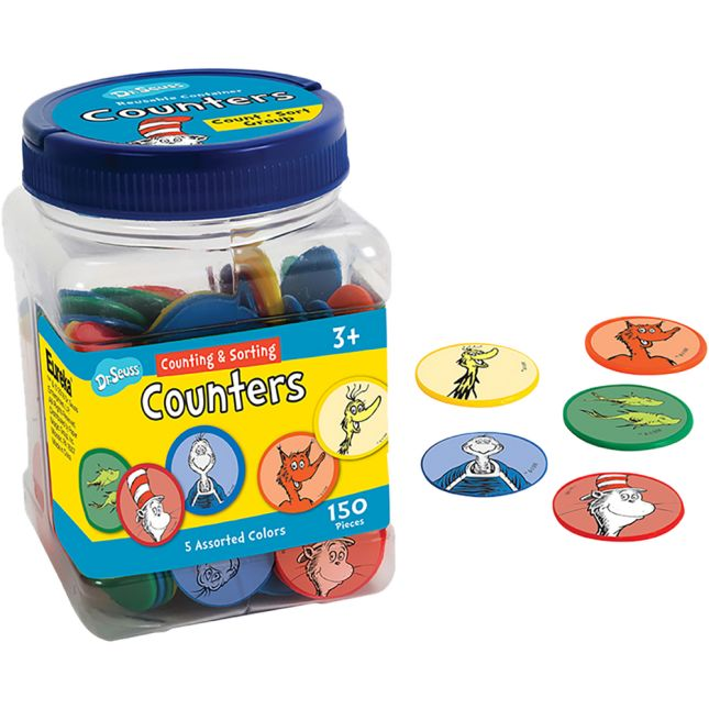 Dr. Seuss Counting And Sorting Counters
