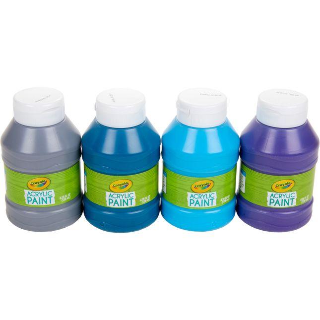 Crayola® Acrylic Paint – Ocean Colors – Set Of 4