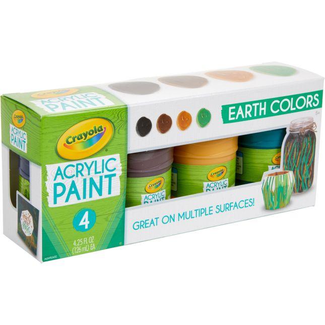 Crayola® Acrylic Paint – Earth Colors – Set Of 4