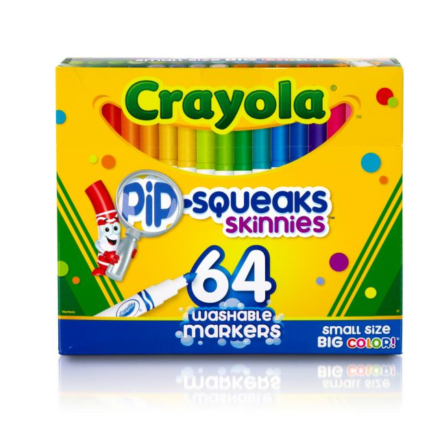 Crayola® Pip-Squeaks Skinnies – Set Of 64 Washable Markers